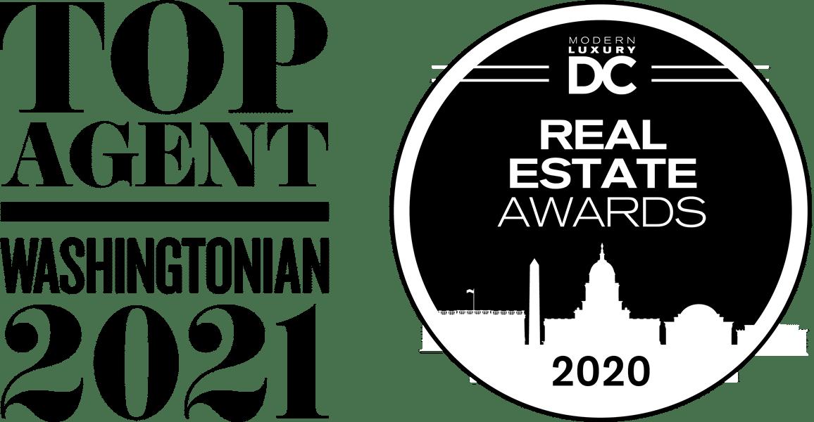 Top Agent Washington 2021 / Modern Luxury DC Real Estate Awards 2020